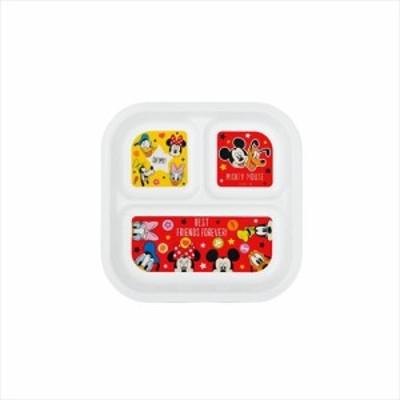 ミッキー&ミニー 仕切り皿 スクエアランチプレートディズニー キャラクターグッズ通販