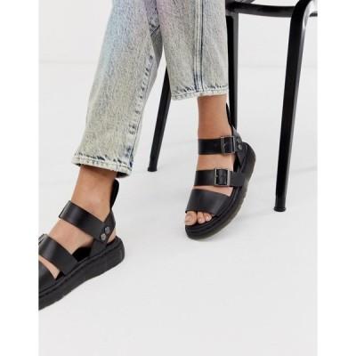 ドクターマーチン レディース サンダル シューズ Dr Martens Gryphon leather sandals in black Black brando