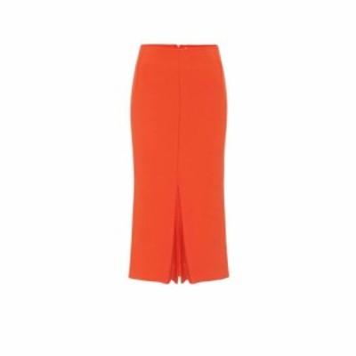 ヴィクトリア ベッカム Victoria Beckham レディース ひざ丈スカート スカート Crepe midi skirt Orange