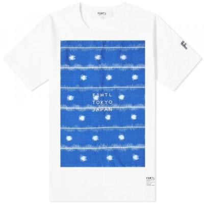 ファンダメンタル Tシャツ トップス カットソー メンズFDMTL Kasuri TeeWhite