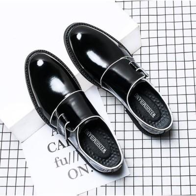 ビジネスシューズ メンズ 歩きやすい革靴 紳士靴 プレーントゥ フォーマルシューズ  メンズ靴 PU革靴 2018