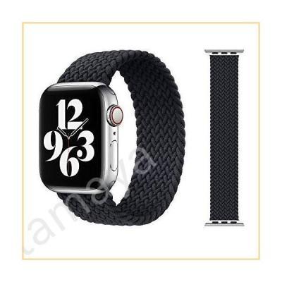 Apple Watch SEシリーズ6バンド、Apple Watch 42/44mm、M、ウーブンソロループ編みストラップiwatch対応5/4/3/2/1(ブ