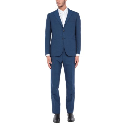 CANTARELLI per ERALDO スーツ ブルー 52 バージンウール 75% / モヘヤ 20% / カシミヤ 5% スーツ