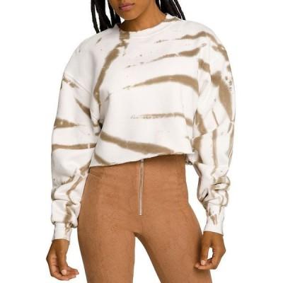 グッドアメリカン レディース シャツ トップス Cropped Cool Sweatshirt