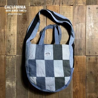 《CALIFORNIA HAVE A NICE TIME !》カリフォルニアハブアナイスタイム 2WAY TOTE BAG (AHB-013) トートバック メンズ レディース デニム