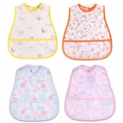 食事用エプロン ベビー 子供 スーパー ビブ ソフトスタイ - 防水よだれかけ 赤ちゃん 離乳食エプロン 袖なし ポケット付き 防水