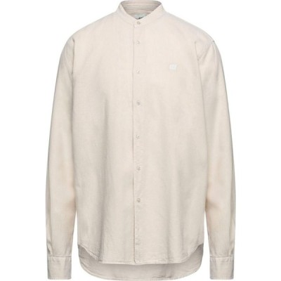 ヘンリーコットンズ HENRY COTTON'S メンズ シャツ トップス linen shirt Beige