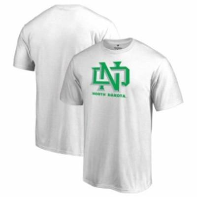 Fanatics Branded ファナティクス ブランド スポーツ用品  Fanatics Branded North Dakota White Primary Team Logo T-Shirt