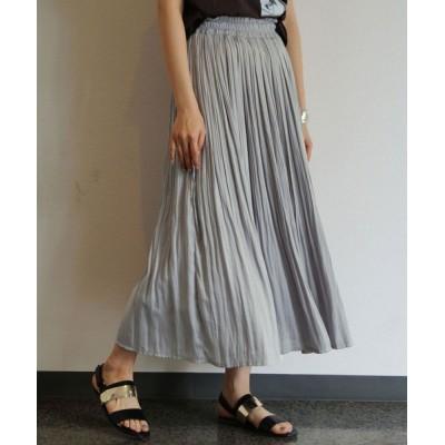 NICOLE / ヴィンテージサテン消しプリーツロングスカート WOMEN スカート > スカート