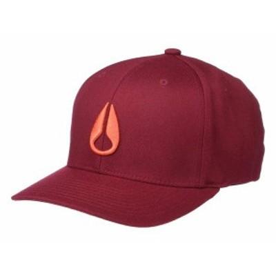 ニクソン メンズ 帽子 アクセサリー Deep Down FF Athletic Fit Hat Burgundy