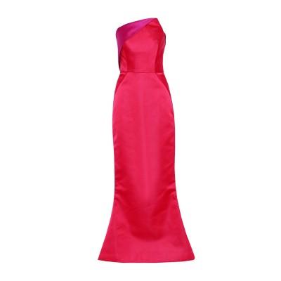 ZAC POSEN ロングワンピース&ドレス フューシャ 6 ナイロン 55% / ポリエステル 45% ロングワンピース&ドレス