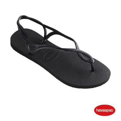 Havaianas 哈瓦仕 拖鞋 涼鞋  巴西 女鞋 黑 4129697-0090W Luna
