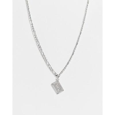デザインビーロンドン メンズ ネックレス・チョーカー アクセサリー DesignB cassette pendant in silver Silver