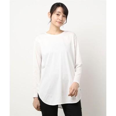 tシャツ Tシャツ 【WEB別注】すっきりシルエットのクルーネックロングTシャツ