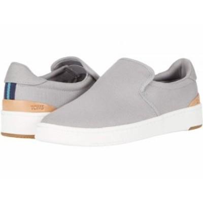 TOMS トムス メンズ 男性用 シューズ 靴 スニーカー 運動靴 Travel Lite 2.0 Slip-On Drizzle Grey Canvas【送料無料】
