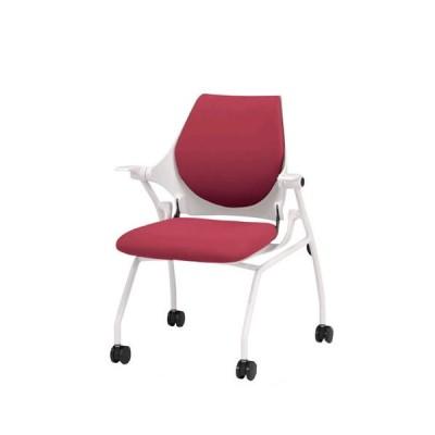 イトーキ 会議椅子 ミーティングチェアー イプサ 肘付 クロスバック ロッキングなし キャスター付き KLD125NGS