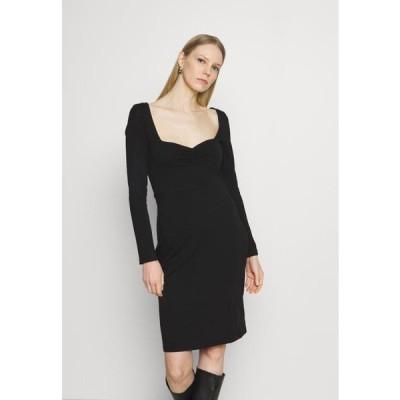 アンナフィールド レディース ジャージドレス Shift dress - black