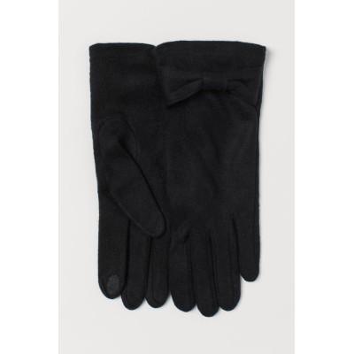 H&M - ファインニット手袋 - ブラック
