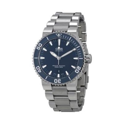 オリス Aquis ブルー ダイヤル メンズ 腕時計 733-7653-4155MB