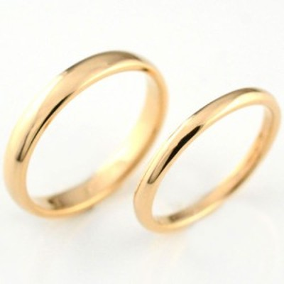 婚約指輪 エンゲージリング 結婚指輪 ペアリング マリッジリング k18 甲丸 ピン