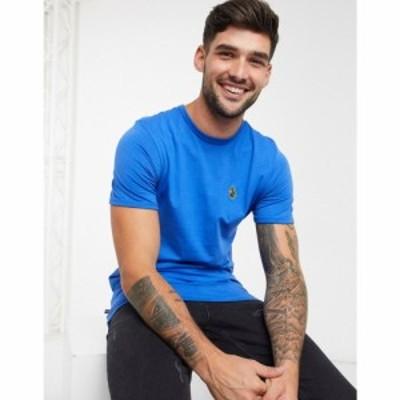 ルーク Luke メンズ Tシャツ トップス logo t-shirt ブルー