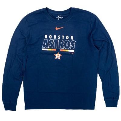 MLB ヒューストン・アストロズ Tシャツ カラー バー ロングスリーブ ナイキ/Nike ネイビー【OCSL】2102SGSL