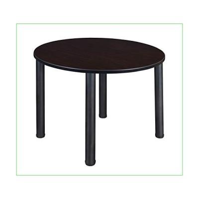 "Regency Kitt Round Breakroom Table, 48"", Darkest Brown/Black並行輸入品"