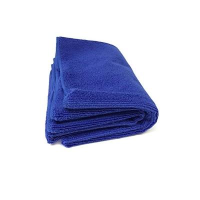 [TARO WORKS] 洗車タオル マイクロファイバー 洗車ふき取り 磨き上げ クロス 大判 業務用 (60cmx120cm) ブルー