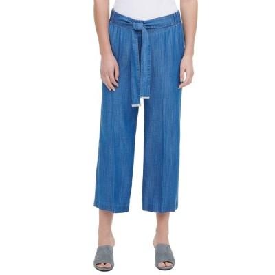 カルバンクライン カジュアルパンツ ボトムス レディース Cropped Pull-On Pants Indigo