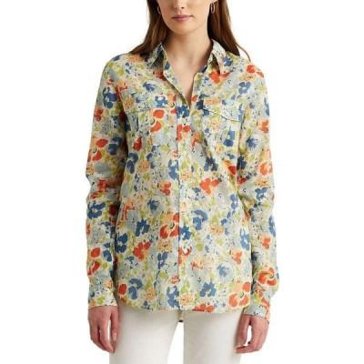 ラルフ ローレン LAUREN Ralph Lauren レディース ブラウス・シャツ トップス Floral Cotton Voile Shirt Cream Multi