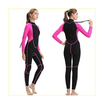 Flexel Wetsuit Women and Men 3mm Full Thermal Neoprene Wet Suit for Surfing Snorkeling Diving Swimming (2mm Pink, X-Large)【並行輸入品