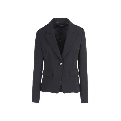 エンポリオ アルマーニ EMPORIO ARMANI テーラードジャケット ブラック 46 レーヨン 97% / ポリウレタン 3% テーラードジャ