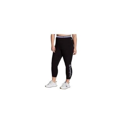 チャンピオン カジュアルパンツ ボトムス レディース Plus Size Authentic 7/8 Leggings Black/Opalescent