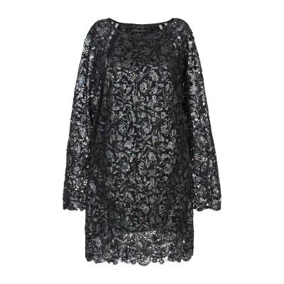 パトリティア ペペ セーラ PATRIZIA PEPE SERA ミニワンピース&ドレス ブラック 42 コットン 100% / ポリエステル ミニ