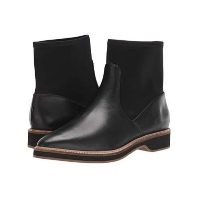 コールハーン The Go-To Chelsea Bootie レディース ブーツ Black Leather/Black Neoprene