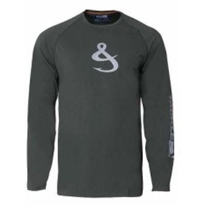 フックアンドタックル Hook and Tackle メンズ ハイキング・登山 長袖Tシャツ トップス Phenom LS Tech Tee Porpoise Grey