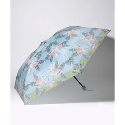 【フルラ】FURLA(フルラ)折りたたみ傘 【フラミンゴ】