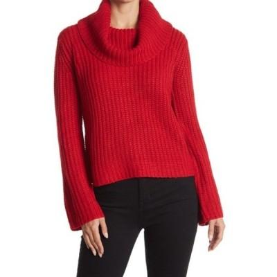 ビービーダコタ レディース ニット&セーター アウター Love Actually Cowl Neck Knit Sweater BRIGHT RED