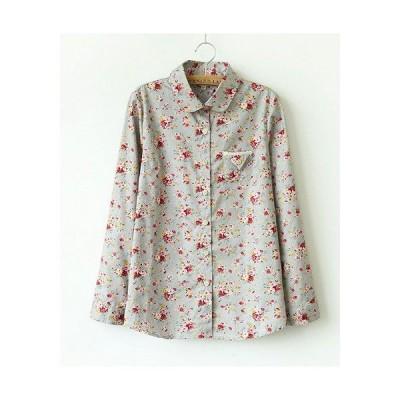nst003 花柄 長袖シャツ カジュアルシャツ レディース メール便送料無料