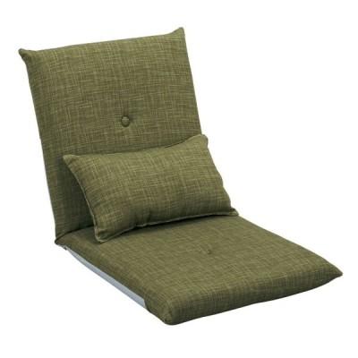 座椅子 座いす 完成品 クッション付きフロアチェア グリーン色 日本製