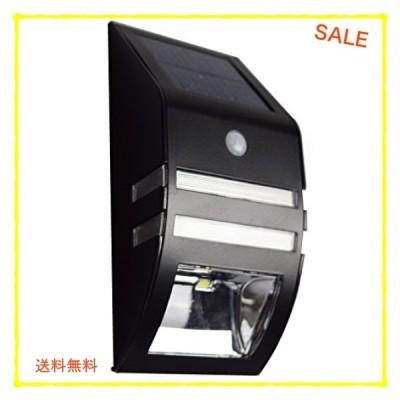 【ブラック 1個】 ZAZ 屋外 LED センサーライト 太陽光充電 ソーラー充電 玄関 ガーデンライト 防水 IPX4 新型 明る