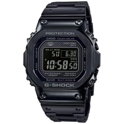 ジーショック メンズ 腕時計 アクセサリー Men's Solar Digital Black Stainless Steel Bracelet Watch 43.2mm