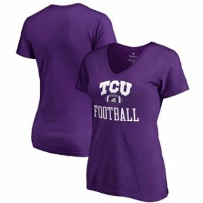 Fanatics Branded ファナティクス ブランド スポーツ用品  Fanatics Branded TCU Horned Frogs Womens Purple Neutral Zone V-Neck T-Shi