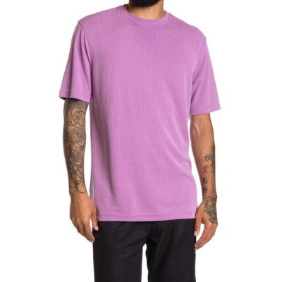 ブガッチ メンズ Tシャツ トップス Solid Crew Neck T-Shirt Lavender