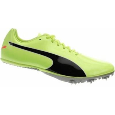 プーマ メンズ スニーカー シューズ PUMA Evospeed Sprint 10 Track and Field Shoes Neon Green/Black