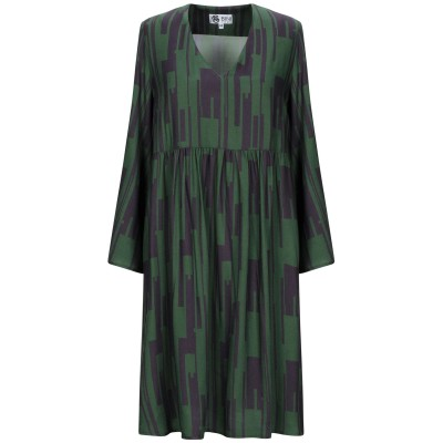 BINI Como ミニワンピース&ドレス グリーン 46 レーヨン 100% ミニワンピース&ドレス