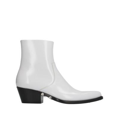 CALVIN KLEIN 205W39NYC ショートブーツ ホワイト 40 革 ショートブーツ