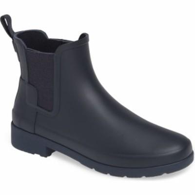ハンター HUNTER レディース ブーツ チェルシーブーツ シューズ・靴 Refined Chelsea Boot Navy