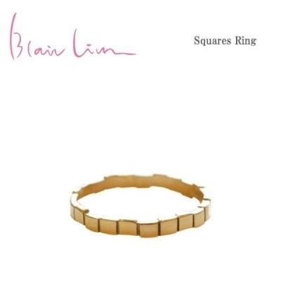 ≪Blair Lim≫ ブレア・リム スクエア 四角 10金ゴールド リング Squares Ring (Gold)