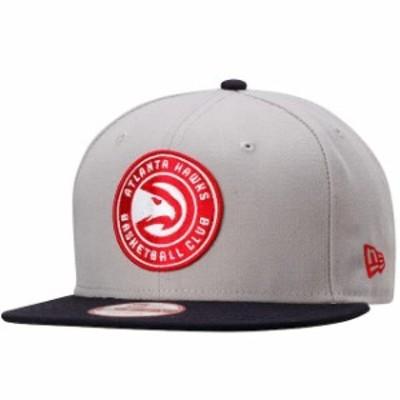 New Era ニュー エラ スポーツ用品  New Era Atlanta Hawks Gray Team 9FIFTY Snapback Adjustable Hat -